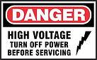 Danger Safety Sign - high voltage