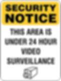 Security Surveillance Sign - Parking Lot sign