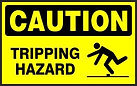 Caution Safety Sign - Tripping Hazard