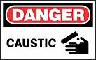 Danger Safety Signs - caustic