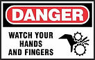 Danger Safety Sign - Watch hands and fingers