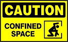 Caution Safety Signs - Confined Space