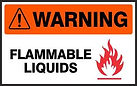 Warning Safety Signs - Flammable Liquids