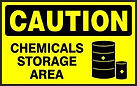 Caution Safety Sign - Chemical storage area