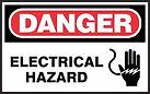 Danger Safety Sign - Electrical Hazard