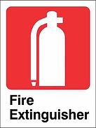 Fire Extinguisher Sign - Single Sided