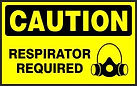 Caution Safety Sign - Respirator Required