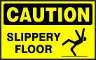 Caution Safety Sign - Slippery Floor
