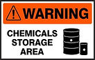 Warning Safety Sign - Chemical Storage Area