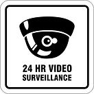 24 Hour Video Surveillance Signs - Large