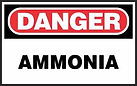 Danger Safety Sign - Ammonia