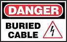 Danger Safety Signs - Buried Cable