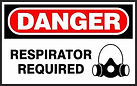 Danger Safety Sign - Respirator Required