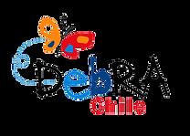 Logo Fundación Debra. La imagen contiene arriba una mariposa de colores rojo, naranjo, azul y blanco. Debajo de ella hay un texto que dice Debra Chile en letras negras, rojas, azules y celeste, en donde la b tiene en el centro una estrella, emulando la bandera de Chile