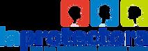 """Logo protectora de la Infancia. Imagen con 3 cuadrados que tienen cabezas de niños en colores rojo, azul y verde claro. Debajo hay un texto en letras grandes azules que dice """"la protectora"""" y abajo en letras más pequeñas sale """"de la infancia desde 1894"""""""