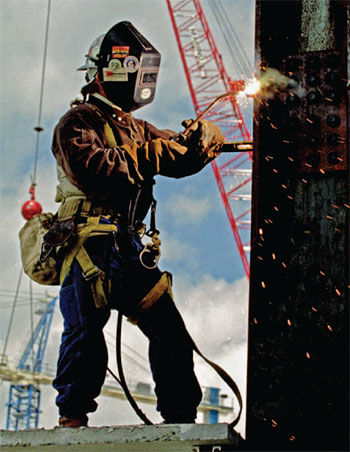 crane, welding