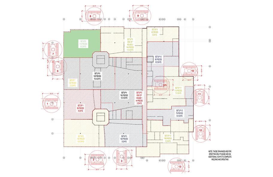 project schedule duration crane planning