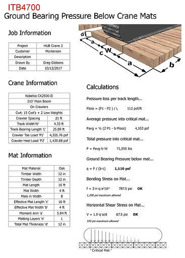 kobelco crane ground bearing pressure