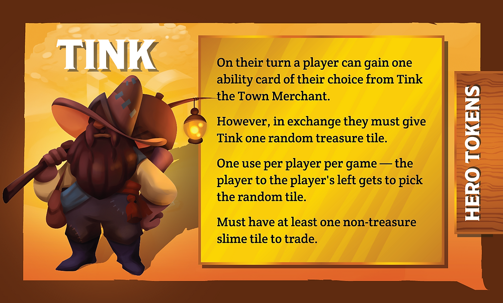 The Quest Kids Board Game - Tink Ally Card Back