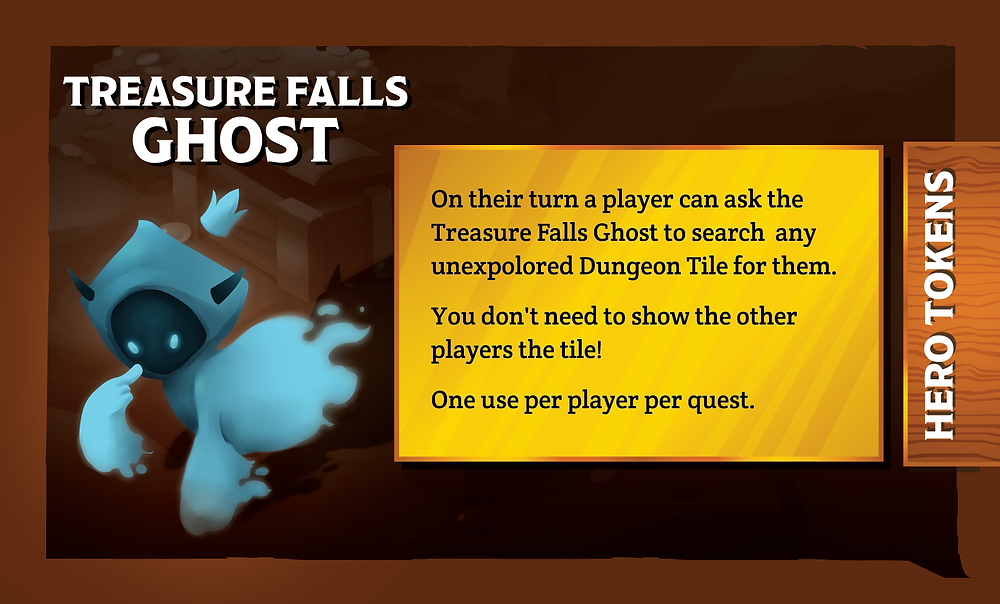 The Quest Kids Board Game - Treasure Falls Ghost Ally Card Back