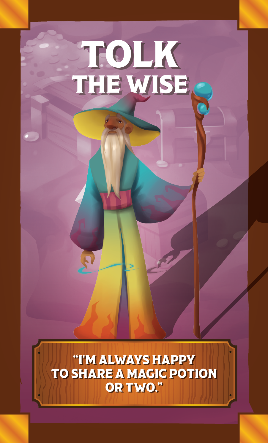 The Quest Kids Board Game - Tolk the Wise Ally Card