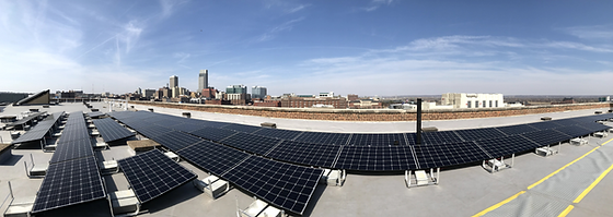 Rooftop Solar Panels at Downtown Omaha Wedding Venue