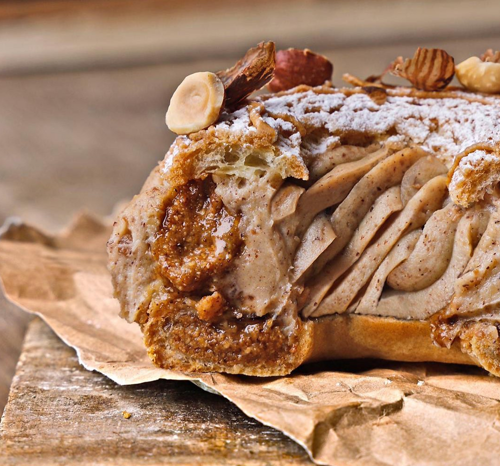 Paris-Brest made by Yann Couvreur, one of the most famous pastry chef in Paris.
