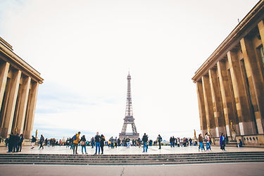View on the Eiffel Tower from Trocadéro