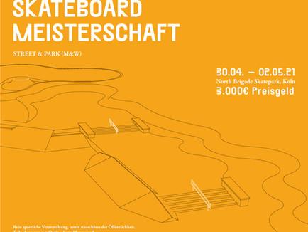 Offizielle Deutsche Skateboard Meisterschaft am 30. April bis 02. Mai in Köln!