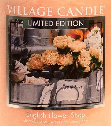 English Flower Shop USA Village Candle Wax Crumble Pot