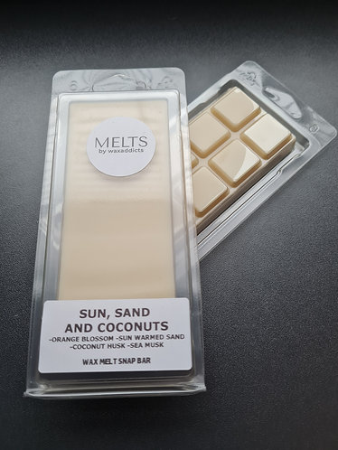 Sun, Sand and Coconuts Wax Melt Snap Bar by Wax Addicts