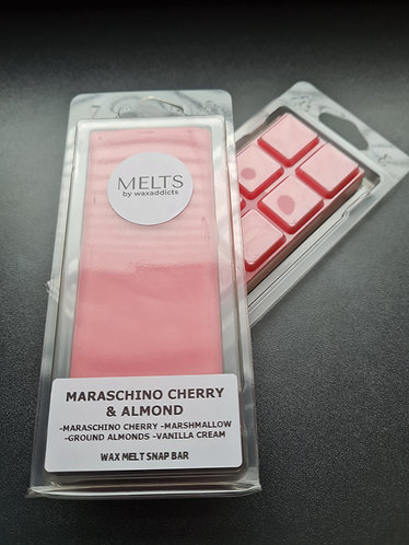 Maraschino Cherry and Almond Wax Melt Snap Bar by Wax Addicts