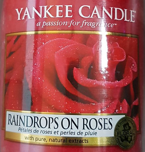 Raindrops On Roses Yankee Candle Wax Crumble Pot