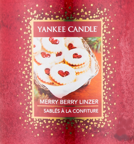 Merry Berry Linzer USA Yankee Candle Wax Crumble Pot 22g