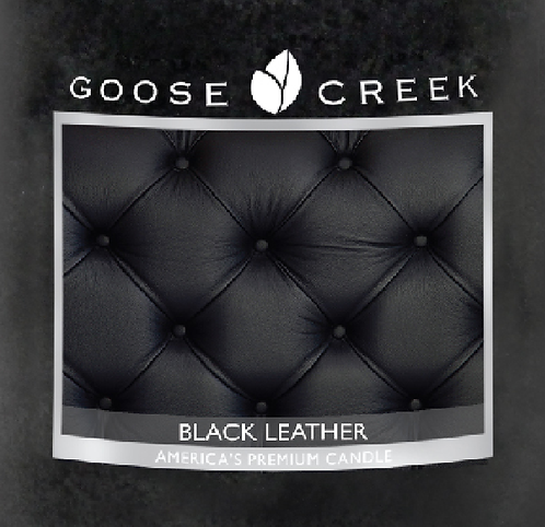 Black Leather Goose Creek Wax Crumble Pot 22g