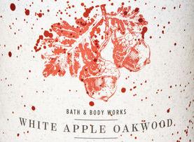 White Apple Oakwood USA Bath and Body Works Wax Crumble Pot