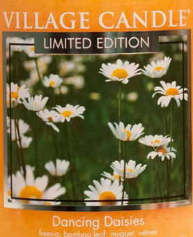 Dancing Daisies USA Village Candle Wax Crumble Pot