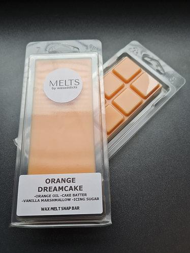 Orange Dreamcake Wax Melt Snap Bar by Wax Addicts
