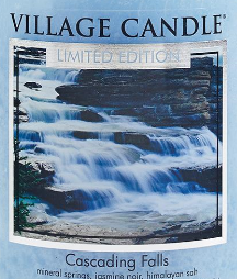 Cascading Falls USA Village Candle Wax Crumble Pot
