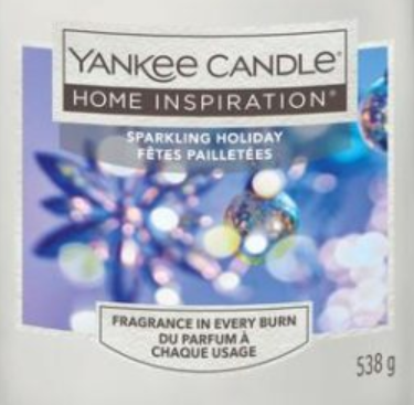 Sparkling Holiday Yankee Candle Wax Crumble Pot 22g