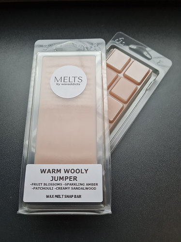 Warm Wooly Jumper Wax Melt Snap Bar by Wax Addicts