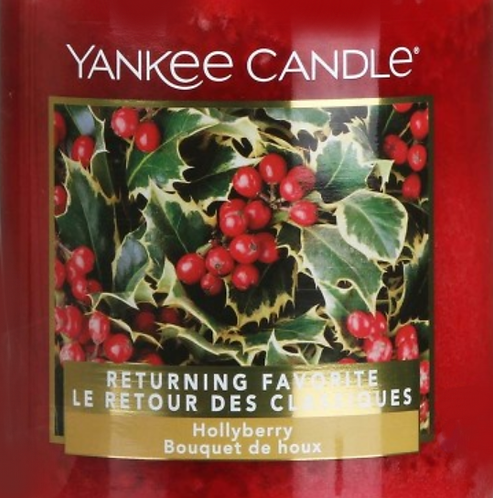 Hollyberry USA Yankee Candle Wax Crumble Pot 22g