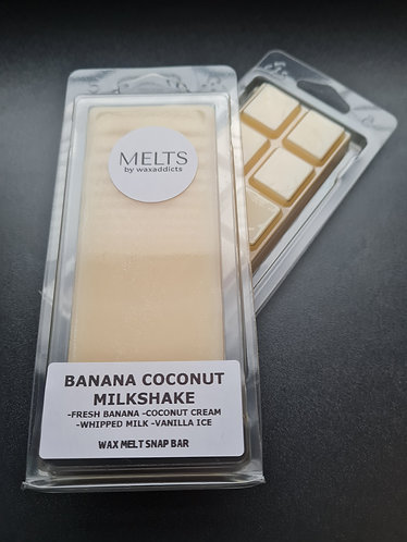 Banana Coconut Milkshake Wax Melt Snap Bar by Wax Addicts
