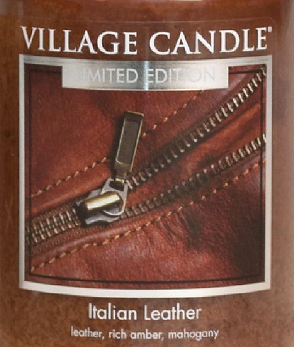 Italian Leather Village Candle Wax Crumble Pot 22g