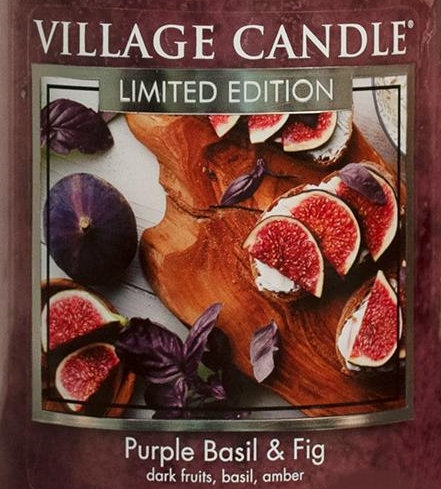 Purple Basil and Fig USA Village Candle Wax Crumble Pot