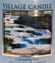 Cascading Falls USA Village Candle Wax Crumble Pot
