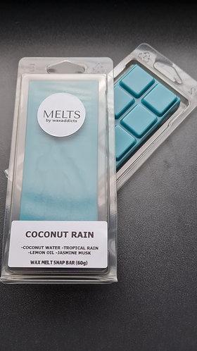 Coconut Rain Wax Melt Snap Bar by Wax Addicts
