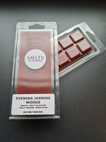 Evening Jasmine Woods Wax Melt Snap Bar by Wax Addicts