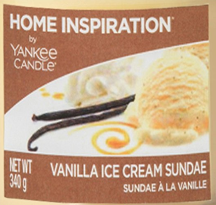 Vanilla Ice Cream Sundae Yankee Candle Wax Crumble Pot