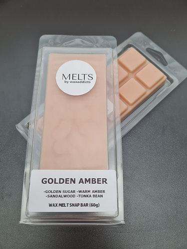 Golden Amber Wax Melt Snap Bar by Wax Addicts